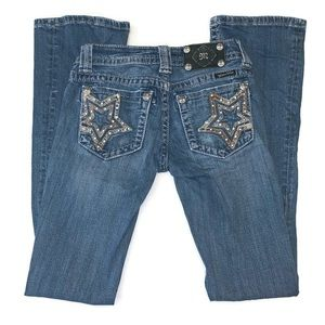 Miss Me Bootcut jean with embellished star pockets